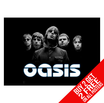 Oasis Poster Liam Noel Gallagher Poster Print A4 A3 Size - Buy 2 Get Any 2 Free