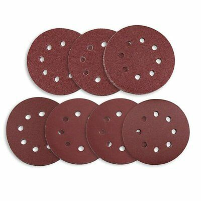 5X(Sanding Discs 70 Pcs 8 Holes 5 Inch Sandpaper Circular Dustless and Loop Q8U7