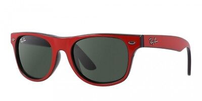 RARE Authentic RAY-BAN JUNIOR WAYFARER Red Black Kids Sunglasses RJ 9035S 162/71