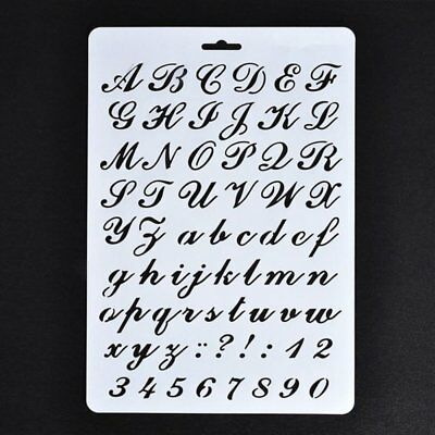5X(Lettering Stencils, Letter and Number Stencil, Painting Paper Stencils ( G4C1