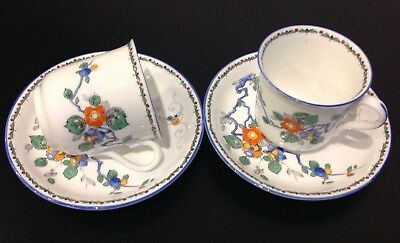 Pair Of Rare Vintage Shelley 'Idalium' China Coffee Cups And Saucers
