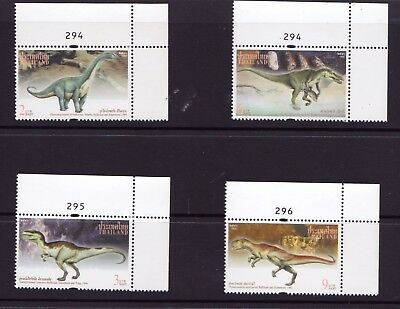 DINOSAURS THAILAND 1997 MNH Set Of 4 Crn With Selvedge & Plate Numbers Superb