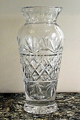 Cut Glass Vase, Large and Heavy