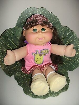 Play Along Cabbage Patch Girl Doll 2011 Brown long hair, Green Eyes.