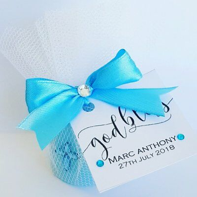 20 x Baptism or christening scented personalised candle favours