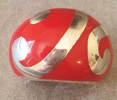 Vintage Modernist 925 Sterling Silver Artistic Stylish Chunky Ring 10.3g Signed