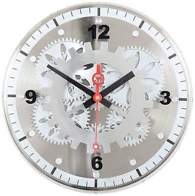 Maple's Moving Gear Wall Clock, Glass Cover