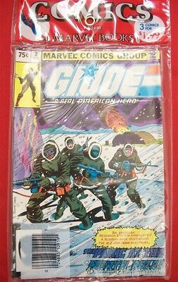 G.i. Joe American Hero 2 26 27 Marvel Bagged Comic Set Sealed Hama 1982 Nm Nos
