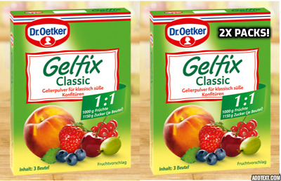 Dr Oetker Gelfix CLASSIC 1:1 Pectin Mix for Jams & Preserves, EASY SETTING!