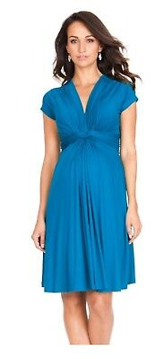 Seraphine Maternity Dress UK 12 Blue, used in VGC