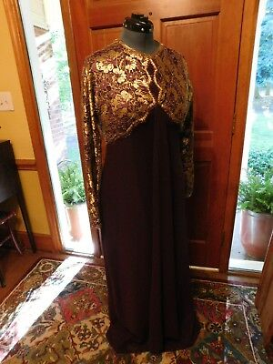 Gorgeous Gold & Grape Mother Of The Bride/groom-Formal-Special Occasion Gown S16