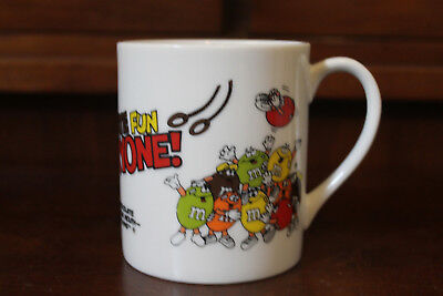 Rare Vintage M&M Chocolate Fun For Everyone Melts In Your Mouth Coffee Cup Mug