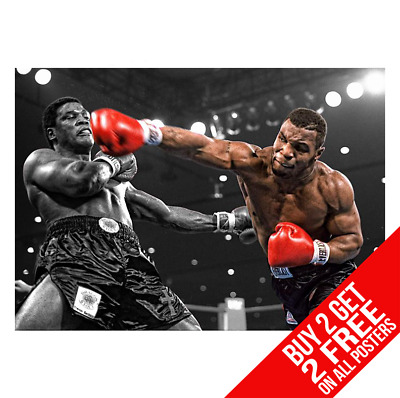 Mike Tyson Knockout V Berbick Poster Print A4 A3 Size -Buy 2 Get Any 2 Free