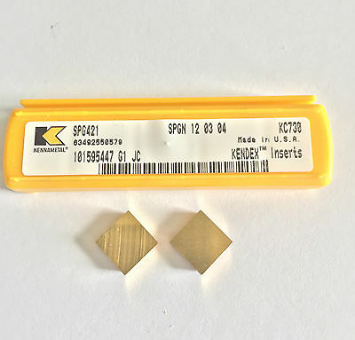 KENNAMETAL SPG421 INSERTS. KC730 QUANITY (5) INSERTS as shown
