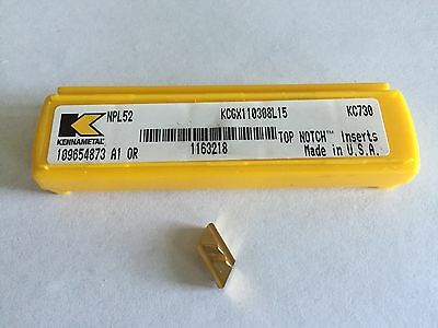 Kennametal NPL 52 PROFILE Inserts as shown