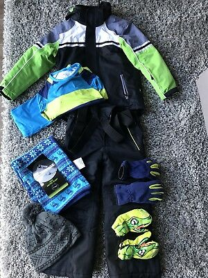 Kids Snow Ski Outfit - Jacket, Pants, Thermals, Gloves, Hat & Scarf. SIZE 6