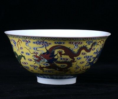 Chinese Famille Rose Porcelain Hand-painted Bowl W Qianlong Mark