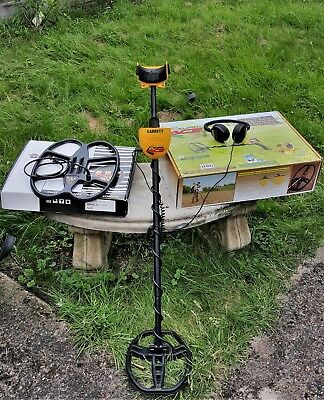 "Garrett Euro Ace Metal Detector Two 11""x9"" DD and DETECH 15""x12"" S.E.F. Coils"