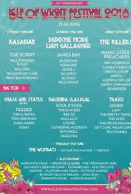 Isle Of Wight Festival Day Tickets X 5 Saturday 23rd June 2018