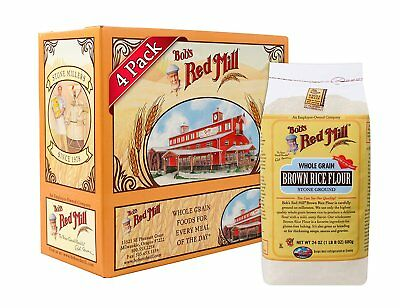 Bob's Red Mill Gluten Free Brown Rice Flour, 24-ounce Pack of 4