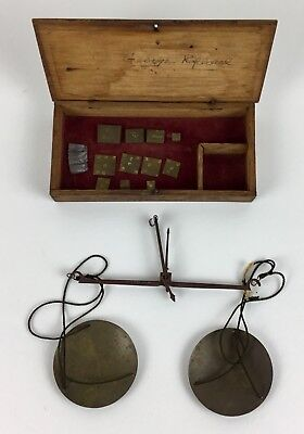 Antique Cased Balance Scale - 19th Century Gold Rush Era - Weights