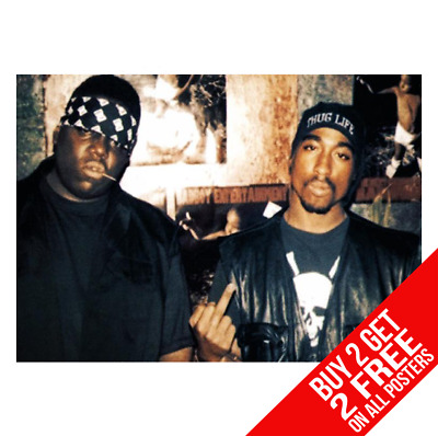 2Pac & Biggie Smalls Poster Notorious B.i.g A4 A3 Size - Buy 2 Get Any 2 Free
