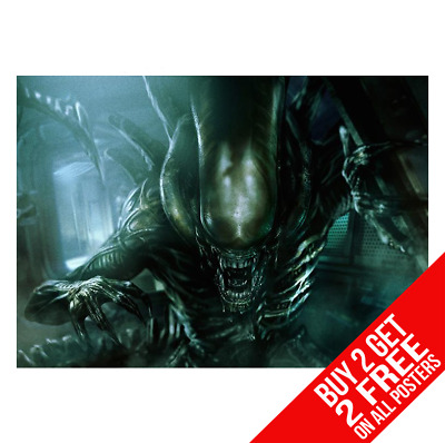 Aliens Poster Photo Picture Print A4 A3 Size - Buy 2 Get Any 2 Free