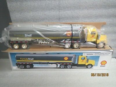 Shell 1998 Silver Tanker with Yellow Cab-NEW IN BOX