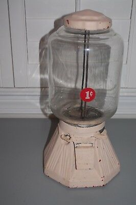 Antique 1930's Northwestern Penny 1 Cent Peanut/gumball Machine As/is Parts Only