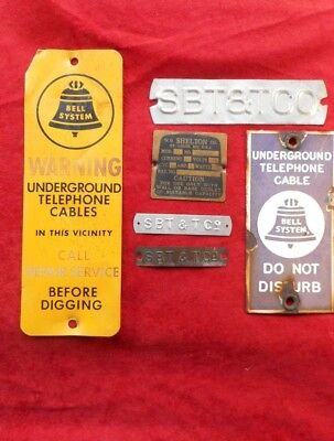 Original - Lot of 5 Bell System Survey Markers - Free Shipping
