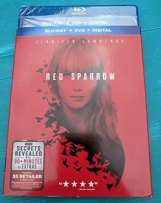 NEW 2018 Red Sparrow Blu-ray & DVD NO DIGITAL BLUERAY bluray action movie