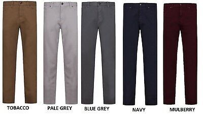 Ex M&S Mens Chinos Pants Trousers Work Regular Jeans Cotton Straight Leg Stretch