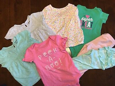 Lot Of 7 Baby Girls Clothing Items: 12 Months