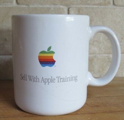 Vintage Apple Training Mac Macintosh Computer Rainbow Logo Coffee Mug Cup