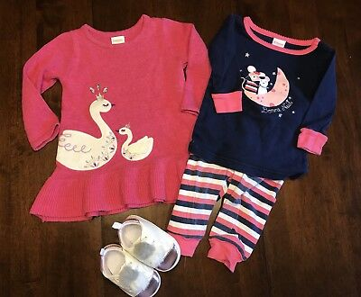 Lot Of 4 Baby Girls Clothing Items: 6-12 Months