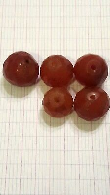 Ancient beads.5 ancient agate carnelian Egyptian beads.several sizes .