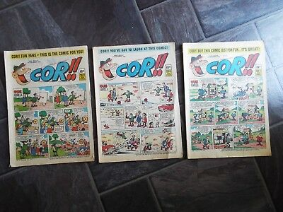 3 1970s Cor Comic's Nov/Dec 1970 8d/3 1/2p