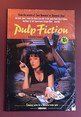 """Quentin Tarantino's Pulp Fiction Wood Mounted Poster 40""""x27"""""""