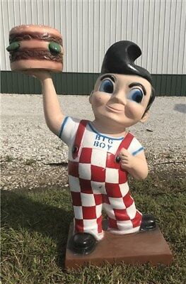 Bob's Big Boy Statue Advertising Sign Gas Station Pump Oil Hot Rod Restaurant b