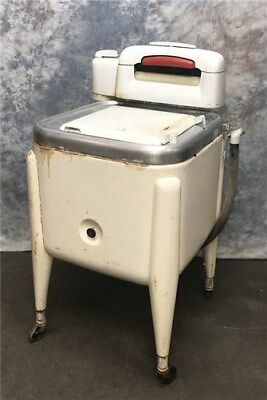 Washing Machine Wringer Washer Vintage Mid Century Maytag Square Tub p