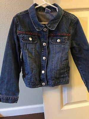 Gymboree Batik Summer Embroidered Jean Jacket Size S Small 5-6 5 6