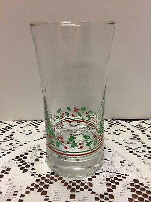 Arby's Libbey 1987 Holiday Christmas Collection Holly Berry Glass #7
