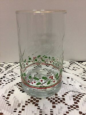 Arby's Libbey 1984 Holiday Christmas Collection Holly Berry Glass