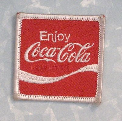 "Enjoy Coca-Cola Patch - new, old stock - 2"" x 2"""