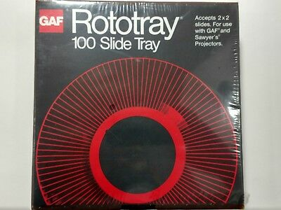 100 Slide Projector Rotary Round Tray GAF Sawyers Rototray in Box 2 x 2 Vintage