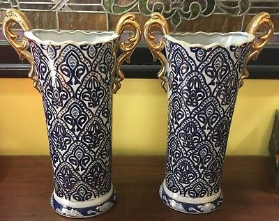Pair Large Vintage Chinese porcelain Vases