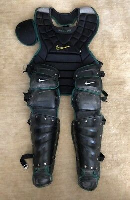 Oregon Ducks Nike Catchers Gear Leg Guards And Chest Protector Black And Green