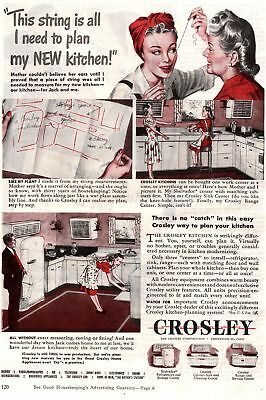 1945 Good Housekeeping Magazine Advertisement Crosley Kitchens 1 Page Ad 313