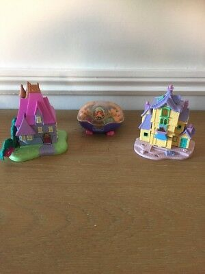 Vintage Polly Pocket 3 X Disney Playsets No Figures