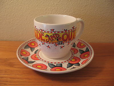 "VINTAGE MARY ENGELBREIT Cup And Saucer ""Be Warm Inside And Out"""